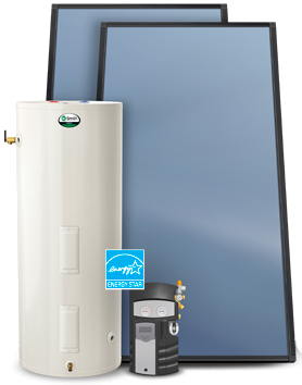 Types of water heaters solar water heaters use the suns heat to provide hot water fandeluxe Images